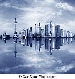 Shanghai Lujiazui - Urban skyline ,Shanghai pudong, China.