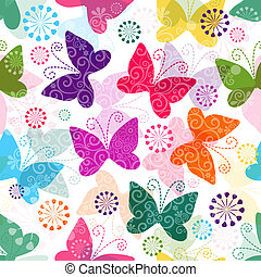 Spring vivid seamless pattern - Spring seamless pattern with...