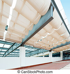 Awning roof top floor in the office