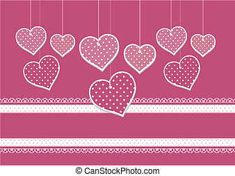 scrapbook hearts background