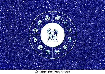 zodíaco, señal, Géminis