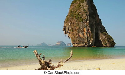 Tropical paradise sand beach