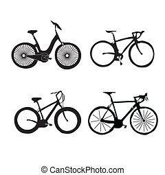 set of bicycles