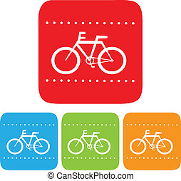 Bicycle sign, Vector icon