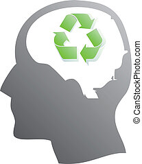 Ecology symbol in human head