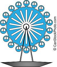 vector illustration of ferris wheel