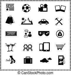 Icons of the news website