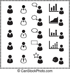 Set of user icons, Vector illustration