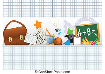 Back to School Icons Set - Vector Illustration of Back To...