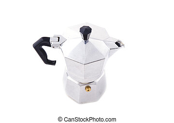 percolator - object on white - kitchen utensil Italian...