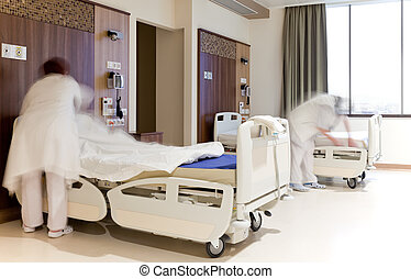 fixing hospital beds room