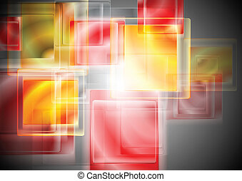 Bright abstract vector background - Bright yellowred...