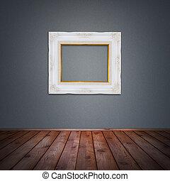 Photo frame in vintage room