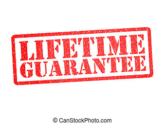 LIFETIME GUARANTEE Rubber Stamp over a white background