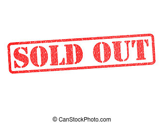 SOLD OUT Rubber Stamp over a white background.
