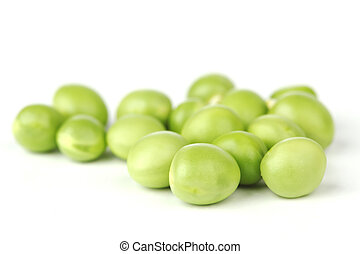 Pea bean isolated on white - Pea bean pile isolated on white