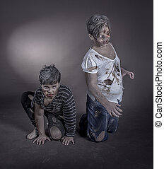 zombie girls - are some girls dressed as zombies