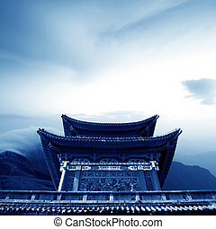 Oriental ancient temple - Proximity to the mountains of...