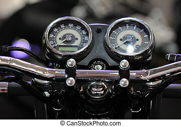 Dashboard motorcycle - Motorcycle handlebar controls with...