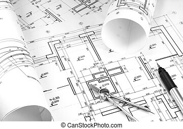 Construction drawings - Architecture blueprint and work...