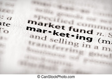 "Marketing - Selective focus on the word \""marketing\\\""...."
