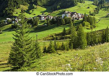 A village in Gardena Valley