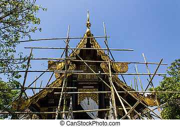 Thai temple construction
