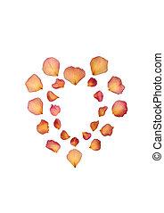 Faded Rose Petal Heart