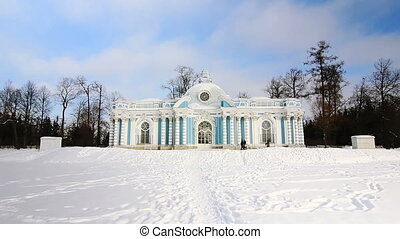 ZOOM of Grotto Pavilion in Pushkin - Zoom shot of Grotto...