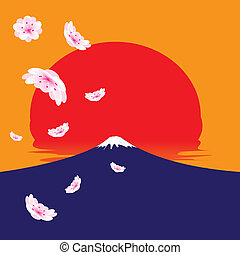 Fuji mountain vector - The abstract of Fuji mountain and...