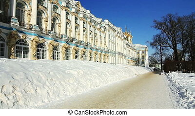 ZOOM of Catherine Palace in Pushkin - Zoom shot of Catherine...