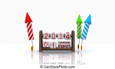 2015, 3D - Here comes the new year - 2015, 3D