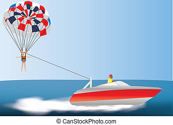 Parascending Clip Art Vector Graphics. 4 Parascending EPS ...