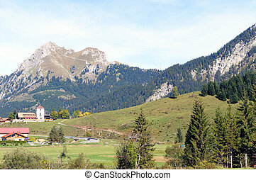 The Aggenstein in the Allgaeu Alps from the Tyrol, Austria;...