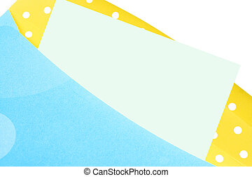 colorful envelope - yellow and green birthday envelope with...