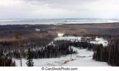 Ski resort in Siberia, Tanai