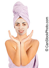 Cosmetic Mask On Smiling Woman