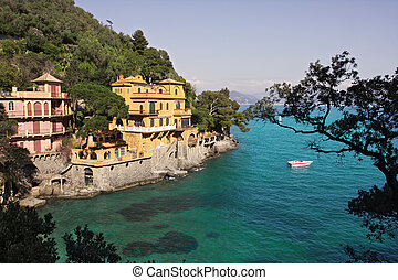 Portofino - Portofino- small italian village on Ligurian sea...