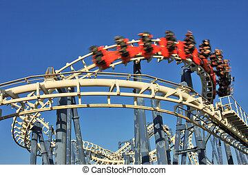 Roller coaster loop - Roller coaster loop in Luna Park, Tel...
