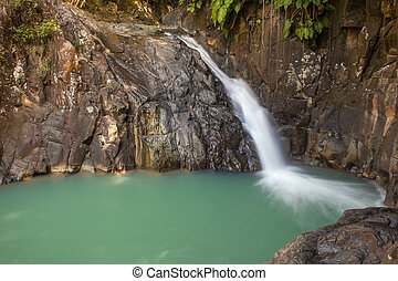 Waterfall in tropical Guadeloup