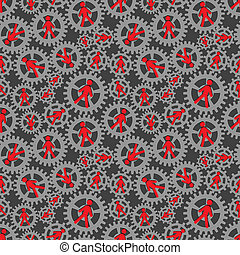 human resources - seamless pattern human resources in...