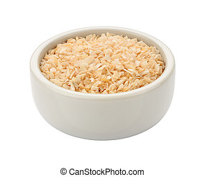 Minced Onion in a Bowl isolated