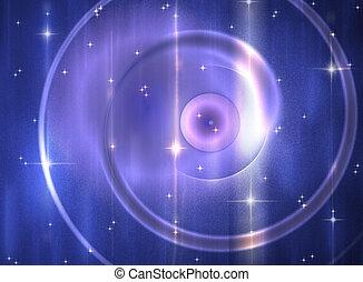 Spiral blue galaxy