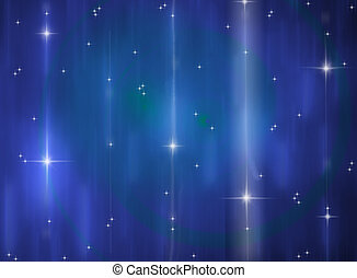 Sparkly stars on blue background - Streaky stars on blue...