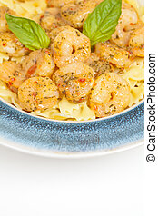 Shrimp Scampi Pasta - A dish of shrimp scampi pasta