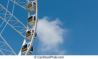 White Ferris wheel cloud and blue sky - Close up White...