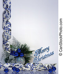 Christmas Background blue 3D text - Image and digital...