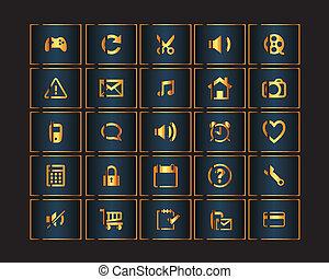 golden button web