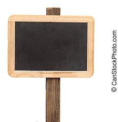 Black board whit blank space