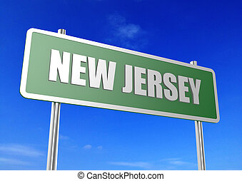New Jersey - Rendered artwork with blue sky as background